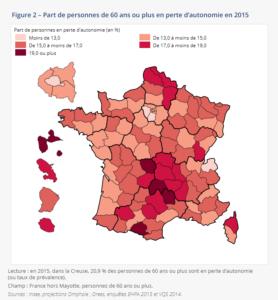 seniors perte autonomie 2015 insee